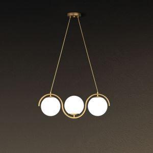 Modern Glass Globe LED Pendant Light Minimalist Light Fixture Bedroom Study 1949