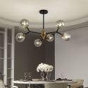 Glass Globe Ball Chandelier Magic Bean Pendant Light Living Room Dining Room 1323