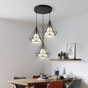 Minimalist Diamond Shaped Pendant Light Modern Decorative Light Fixture Bedroom Study 1348