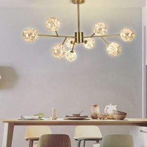 Modern Minimalist LED Ceiling Light Glass Gypsophila Chandelier Living Room Bedroom 1924
