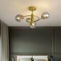 Modern Glass Globe Ceiling Light Magic Bean Pendant Lamp Bedroom Living Room 1941