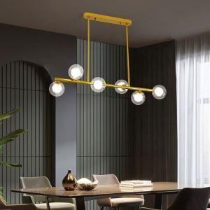 LED Chandelier Glass Globe Horizontal Type Pendant Light Living Room Dining Room 1946