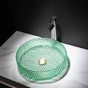 Bathroom Glass Wash Basin Counter Wash Basin Bowl
