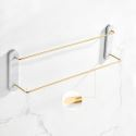 Modern Marble Brass Towel Bar Bathroom Towel Rail QSFG02