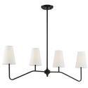 Minimalist Black Chandelier 4 Lamp Iron Pendant Light SRL20234