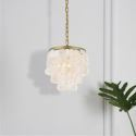 Decorative Shell Pendant Light Simple Golden Light Fixture QMBK21011