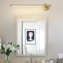 Nordic LED Brass Wall Lamp Mirror Front Light Bedroom Living Room JQ3316