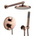 8'' Rose Gold Shower Faucet System Concealed Installation Shower Set