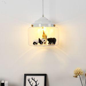 Animal World Glass Pendant Light Decorative Light Fixture LS1000