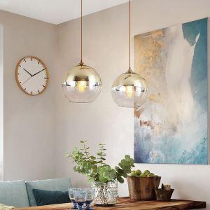 Creative Iron+Glass Globe Pendant Light Bedroom Decorative Lighting DK8099
