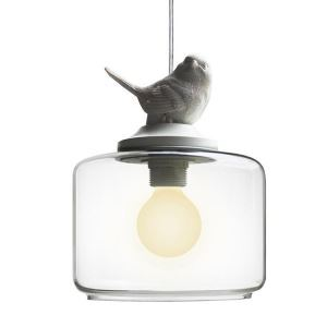 Retro Style Glass Pendant Light Little Bird Decorative Lighting A10088