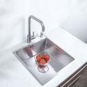 Stainless Steel Kitchen Sink Manual Single Bowl Tank 4035