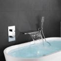 Wall Mounted Bathtub Faucet Waterfall Tub Filler Tap
