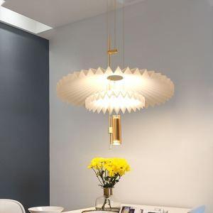 Modern LED Pleated Pendant Light Acrylic Decorative Lighting D1229