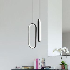 Oval LED Pendant Light Acrylic Decorative Light Fixture MDD192
