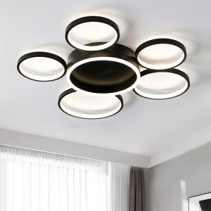 6-Ring Acrylic LED Flush Mount Ceiling Light mys014