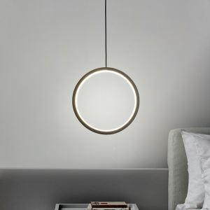 Minimalist LED Ring Pendant Light Bedroom Decorative Lamp MDD189