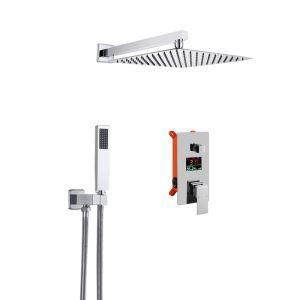 Shower Faucet System with LED Digital Display Concealed Shower Set