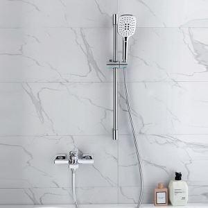 Brass Bathtub Faucet Chrome Finish Handheld Shower