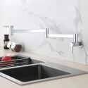 Wall Mounted Foldable Kitchen Sink Faucet Pot Filler Cold Tap