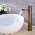 Automatic Sensor Faucet Antique Brass Vessel Sink Cold Tap