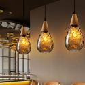 Pendant Light Teardrop Glass Shade Lamp Living Room Light