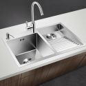 Stainless Steel Sink Double Bowl Laundry Sink with Washboard 8048