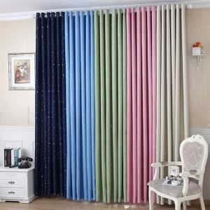 Blackout Curtain Nordic Style Star Polyester Window Treatment (One Panel)
