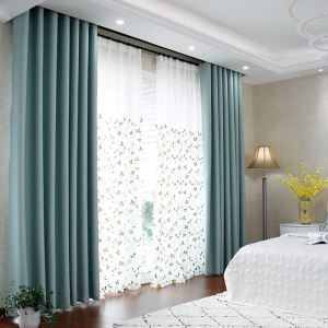 Blackout Curtain Solid Color Polyester Window Treatment (One Panel)