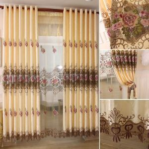Polyester Blackout Curtain Europe Style Embroidery Window Treatment (One Panel)