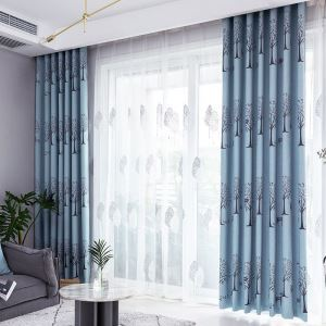 Polyester Curtain Trees Pattern Window Treatment (One Panel)