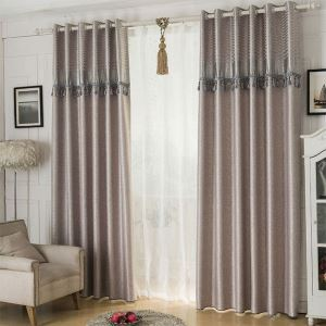 Polyester Curtain Europe Style Blackout Curtain (One Panel)