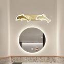 LED Wall Lamp Brass Dolphin Decorative Mirror Front Light JQ3338