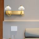 LED Wall Lamp Brass Acrylic Umbrella Sconce Light JQ3350