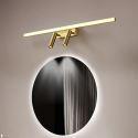 LED Wall Lamp Brass Horizontal Mirror Front Light JQ3351