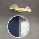 LED Wall Lamp Brass Acrylic Crown Mirror Front Light JQ3356