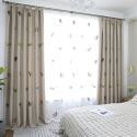 Blackout Curtain Kitten Embroidery Curtain Bedroom (One Panel)