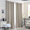 Blackout Curtain Solid Color Hollow Out Star Curtain (One Panel)