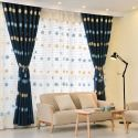 Blackout Curtain Polyester Daisy Pattern (One Panel)
