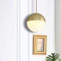 Modern Glass Ball Pendant Light Kitchen Island Ideas Office Lamp QM-99160-1