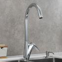 Brass Kitchen Faucet Rotatable Elegant Sink Tap