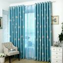Blackout Curtain Polyester Cloud Pattern Window Curtain (One Panel)