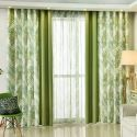 Blackout Curtain Polyester Leaf Pattern Window Curtain (One Panel)