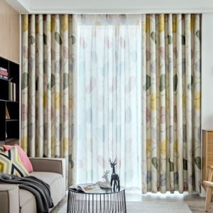 Polyester Curtain Minimalist Window Curtain Living Room (One Panel)