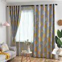 Blackout Curtain Polyester Leaf Printed Cloth (One Panel)