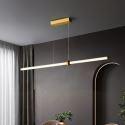 LED Pendant Light Brass Horizontal Linear Light Fixture CD1022