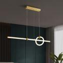 LED Pendant Light Brass Horizontal Linear Light Fixture CD1027