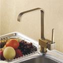 Antique Inspired Solid Brass Kitchen Faucet - Antique Brass Finish
