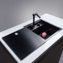 Kitchen Sink Stainless Steel Invisible Single Bowl Sink Folding Faucet 3943
