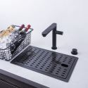 Invisible Kitchen Sink Stainless Steel Single Bowl Sink with Tap 2845